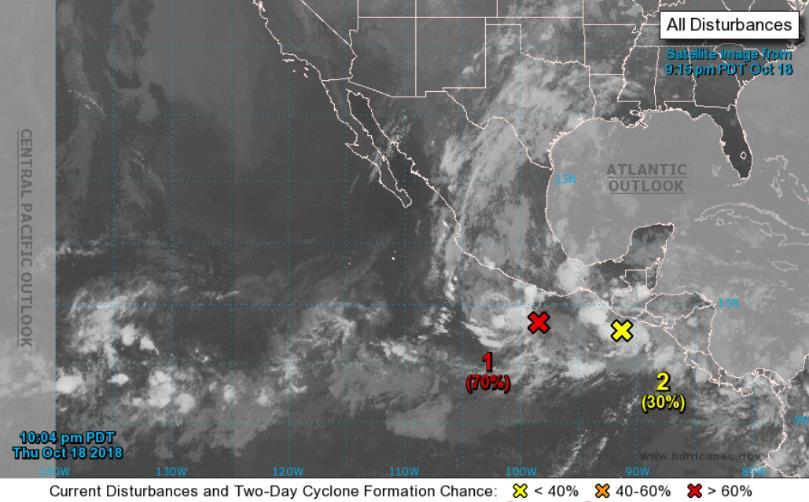 Tropical Outlook Eastern Pacific Disturbance 1 (as of 2:00 a.m.