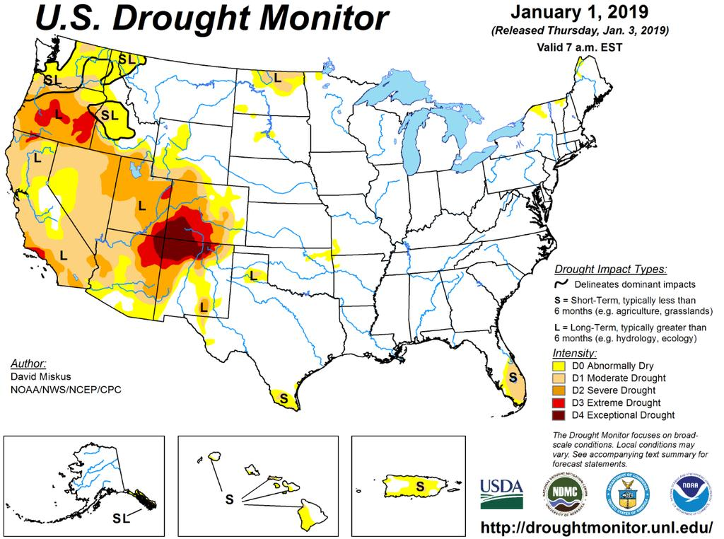 Drought Update Drought conditions continue over most of Colorado with the most severe drought