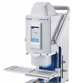 for inexperienced users because of its robust and intuitive design Intuitive and fast pipetting in 96 and 384 format Application Single stroke dispensing of lyes, acids, bases, aqueous liquids or