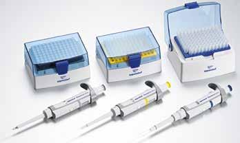 32 33 Liquid Handling Liquid Handling PIPETTING Eppendorf Research plus 12-channel pipettes Volume range Color code Volume Rel. systematic error Eppendorf Research plus, 12-channel, variable, incl.