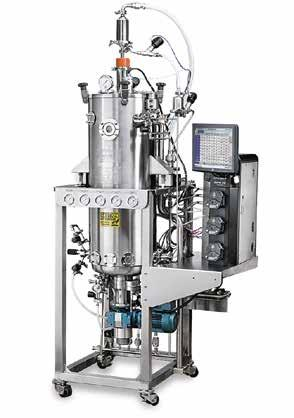 75 32 L 13 100 L 45 1,200 L Single-use vessels available Glass vessels, autoclavable Stainless-steel vessels, SIP Interchangeable vessels Bacteria/yeasts/fungi