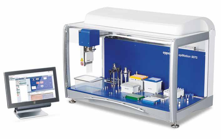 88 89 Liquid Handling Liquid Handling LIQUID HANDLING WORKSTATIONS epmotion 5075t/5075m Product features > > Same as 5075l, plus > > Integrated Eppendorf