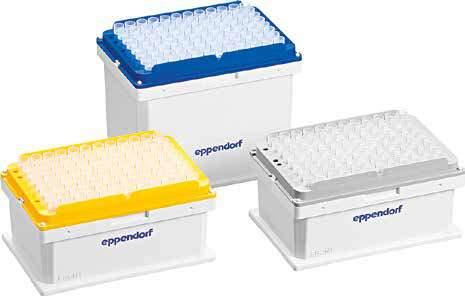 92 93 Liquid Handling Liquid Handling EPMOTION CONSUMABLES ept.i.p.s. Motion as Reload System ept.i.p.s. Motion as Reload System, with filter PCR clean, 10 µl, 2,304 tips (24 trays 96 tips) 0030 014.