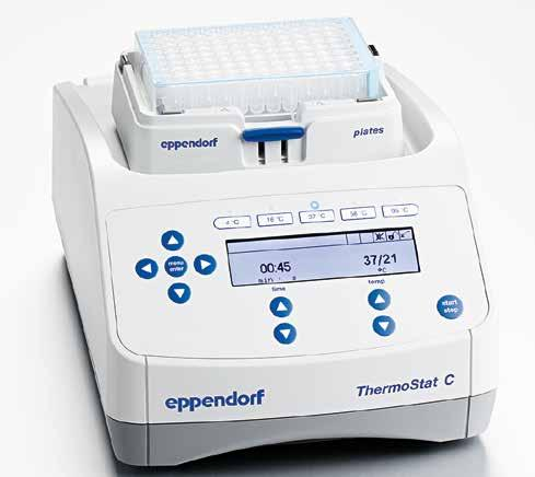 106 107 Eppendorf ThermoStat C Eppendorf SmartBlock MIXERS AND HEATERS Many experiments require fast heating and cooling steps in a very accurate manner.