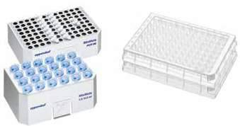 Plate type 96-well plates Mixing of different buffers Buffer with detergent PCR 15 s 1,800 rpm Buffer without PCR 30 s detergent 2,100 rpm Buffer with high salt concentration DWP 5 s 1,400 rpm Buffer