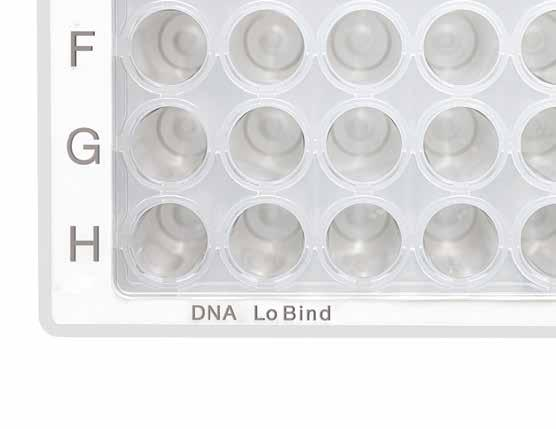 130 131 DNA LoBind Plates DNA LoBind Tubes PLATES DNA LoBind plates improve recovery of nucleic acids by reducing their adsorption to the tube wall.