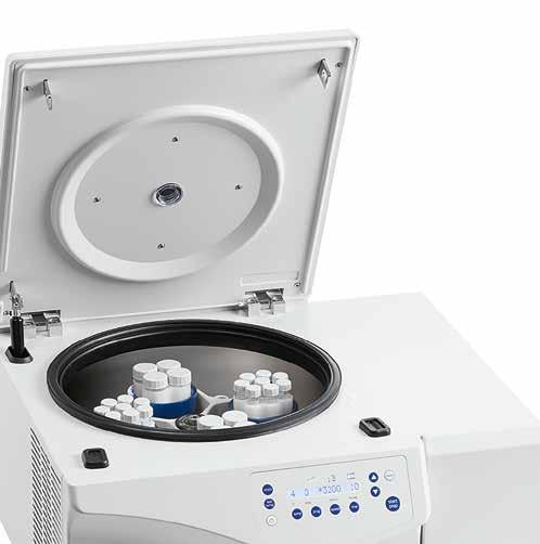 It allows for molecular biology applications in bottles up to 250 ml and offers additional swing-bucket and fixed-angle rotors as well as deepwell plate capacity for