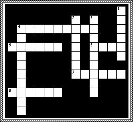 "8 ACROSS Now the hair of Samson's head ""began to grow again after it had been."