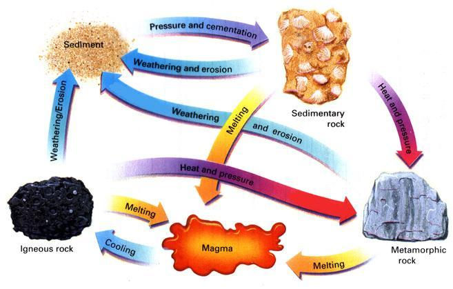 The Rock Cycle & How it Works: All rocks on earth are a part of a large process