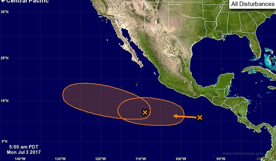 Tropical Outlook Eastern Pacific Disturbance 1 (as of 8:00 a.m.