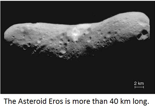 "Asteroids are also known as ""minor planets."" They are made up of much of the same stuff as planets, but they are much smaller."