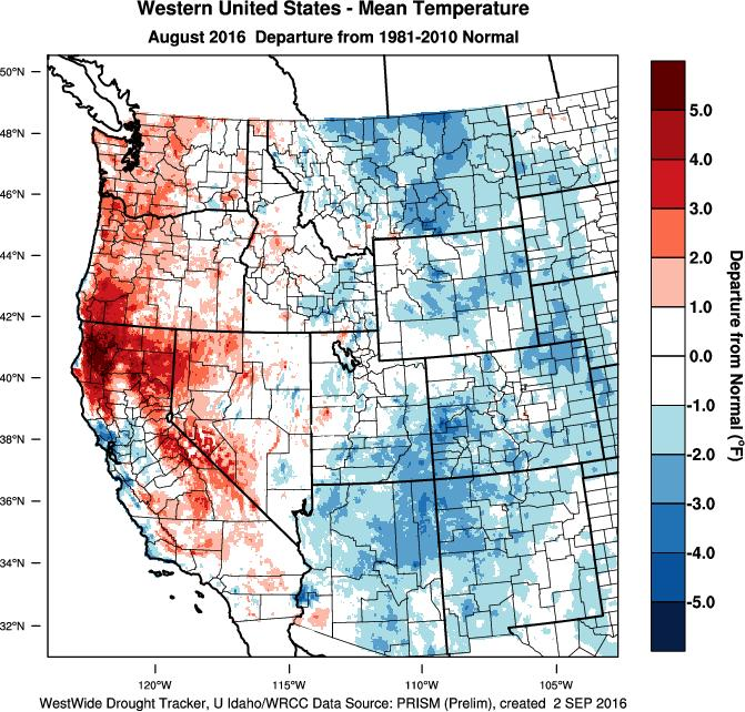 Weather and Climate Summary and Forecast Summer into Harvest 2016 Gregory V.