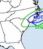 Excessive Rainfall Outlook from WPC There is a slight to moderate risk that rainfall will exceed flash flood guidance across northeast SC through tonight.