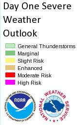 risk for tornadoes through tonight across portions of the