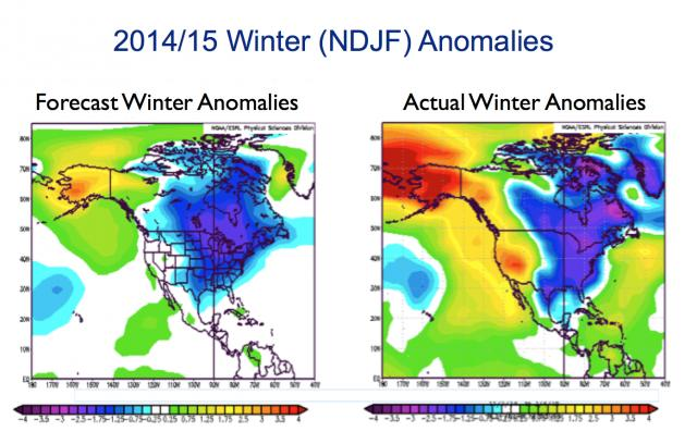Pioneer got the cold east including southeast Canada right but was not