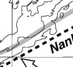 html). Also shown is the source region of the slow thrust event in 1997 (Ozawa et al., 2001), although GPS data affected by this event are excluded from velocity estimations. Median Tectonic Line 7.