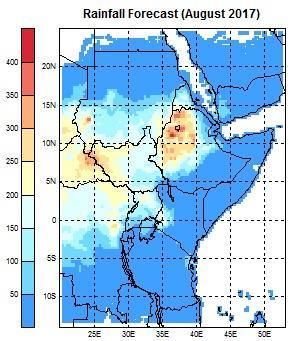 Figure 7a: Rainfall total forecast for