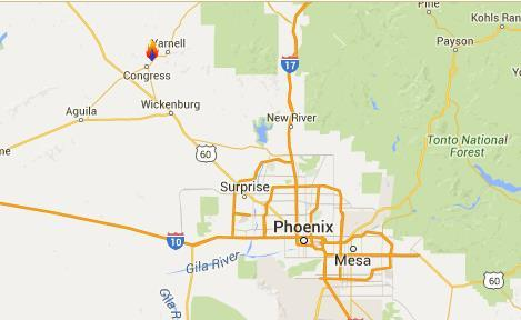 Tenderfoot Fire Arizona Fire Name Location Acres burned % Contained Est.