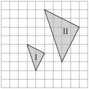 11 11 Diagram 6 is drawn on a grid of equal squares. Triangle II is the image of triangle I under a certain enlargement. Rajah 6 dilukis pada grid segi empat sama.