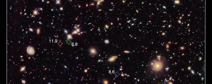 GN-z11 The most distant galaxy discovered is GN-z11 in the