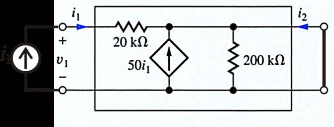Question 6 For the circuit below, determine the h 21 parameter (4 points). Note: do not calculate the other h-parameters.