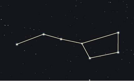 54. Which planet has extreme seasons because it has an axis that is so tilted? a. Uranus c. Earth b. Jupiter d. Moon 55. What is the name of the asterism shown here? a. The Big Dipper b. Cassiopeia c.