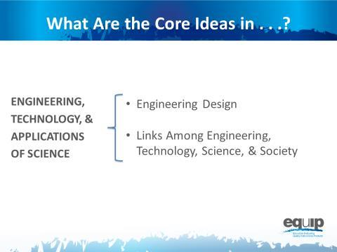 Slide 17 Talking Pints Engineering, technlgy, and the applicatins f science include tw cre ideas: