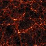 "filaments (surface of ""bubbles"") which surround empty regions (voids) in space"