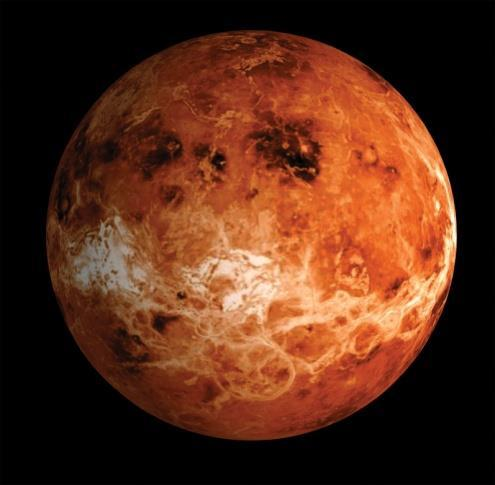 Has NO atmosphere - dramatic temperature differences during day and night. VENUS Similar in size and mass to Earth.