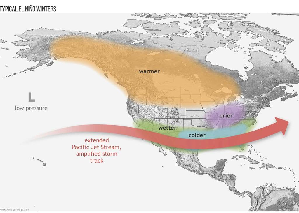 Keep in mind this pattern is not the case for EVERY El Niño winter.