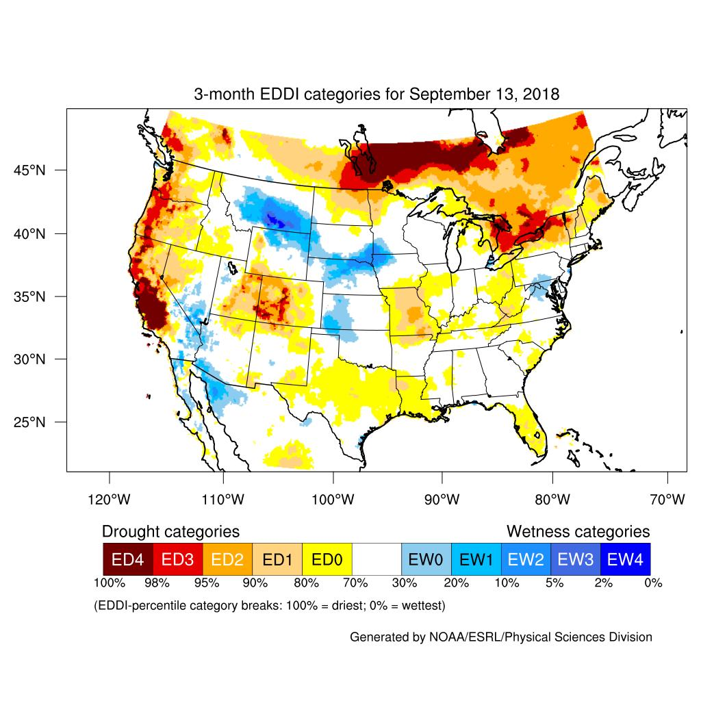 Evaporative Demand Drought Index