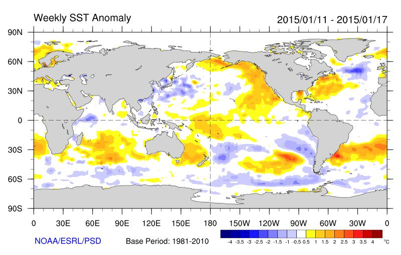 Global SST Anomalies