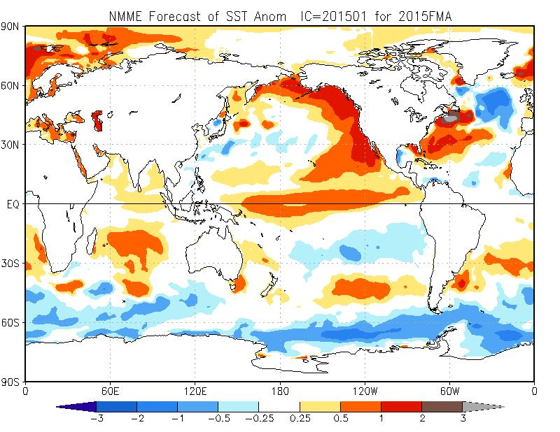 NMME Forecast SST Anomalies