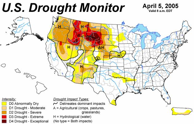 Drought, snow cover & climate change Conditions have improved