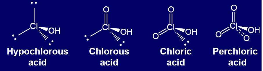 Oxyacids contain three elements (oxygen, hydrogen, and something else).