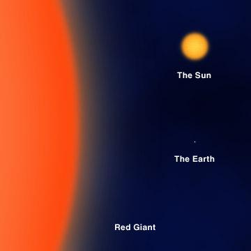 the main sequence star becomes a Red