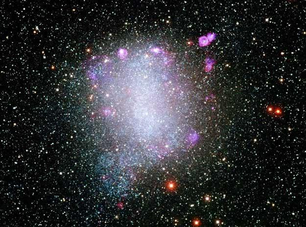 Irregular galaxies are clusters of stars that have no distinct shape, such as Barnard s Galaxy and the Magellanic Clouds.