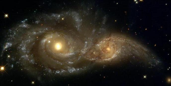 Theory 2: spiral arms are continually changing due to