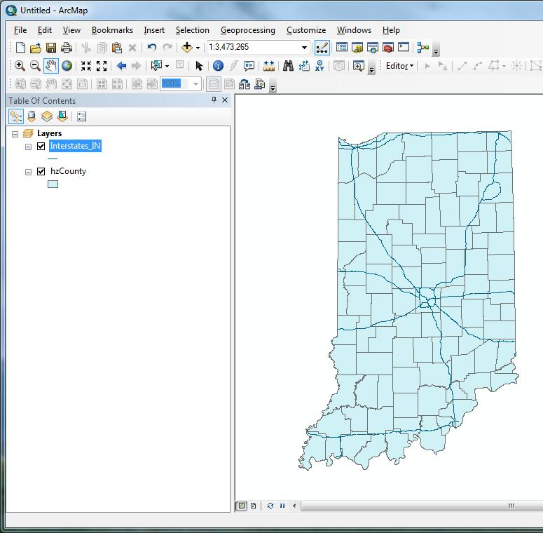 Although the roads appear similar to what they did before defining the coordinate system of the data, you now can have confidence that ArcMap is displaying the data correctly.
