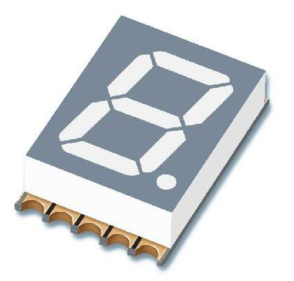 "Pb free and RoHS compliant. Description The is a 10.0mm (0.39"") digit height seven-segment display."