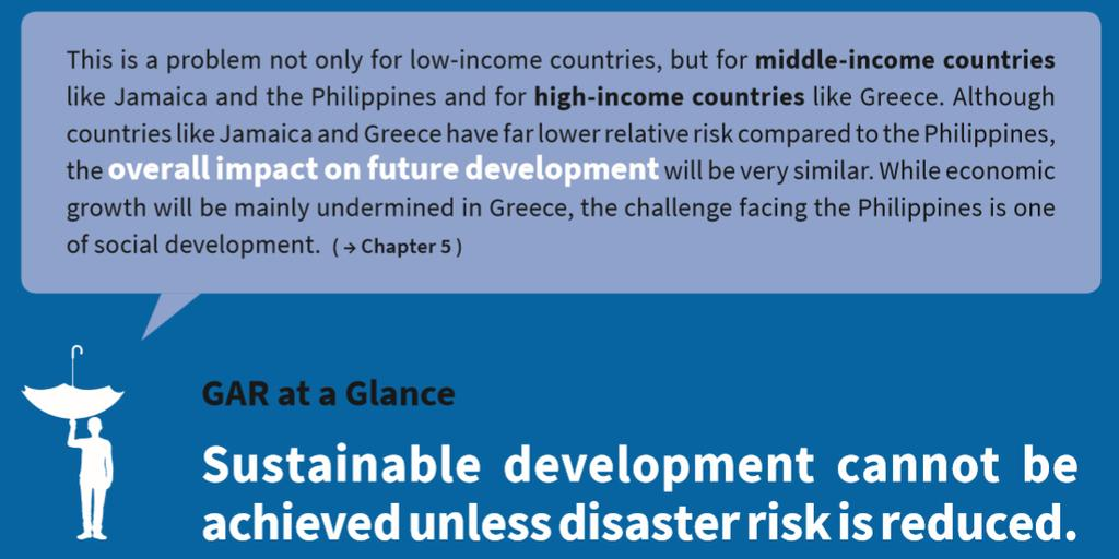 2015 Global Assessment Report If an accelerated increase in disaster risk is to be avoided, the development drivers of