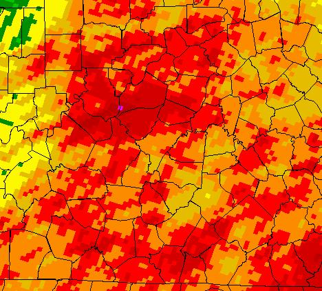 March 2012 April 6, 2012 March 2012 rainfall was generally near normal across most of the HAS but there was an area near Louisville which was above. The wettest section was in Jefferson County KY.