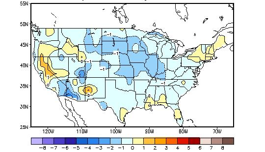 U.S. Temperature and Precipitation Departures During