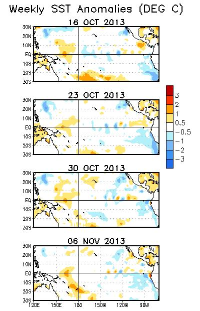 anomalies persisted in the western Pacific.