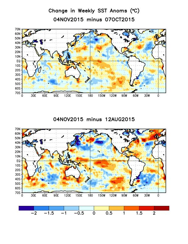 apparent in the far eastern equatorial Pacific and