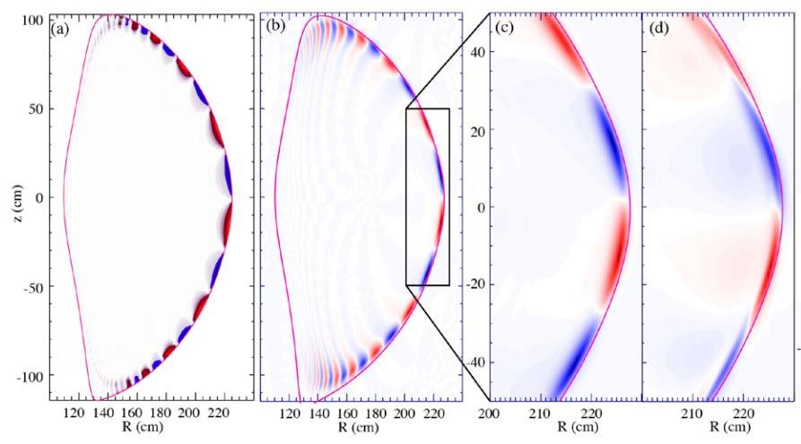 ExB normalized by the Alfven frequency shows clear separation between ELMy H-modes and QHmode plasmas Chen, NF
