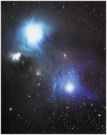 Reflection Nebula In Corona Australis Interstellar Reddening by Dust Grains Strongly scattered Weakly