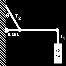 A supporting wire connects the wall to the bar s midpoint, making an angle of 55 with the bar.