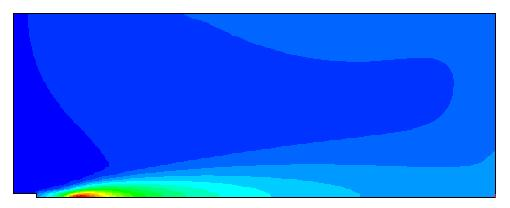 Example of CFD calculation Gas temperature (K) after 3000 iterations