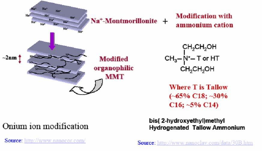 Nanocomposites are a new class of materials filled with nanometers size mineral particles instead